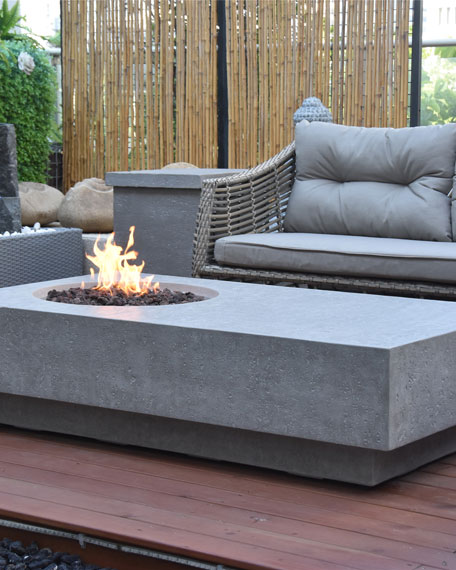 Elementi Metropolis Outdoor Fire Table, LP Gas