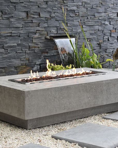 Elementi Hampton Outdoor Fire Table, LP Gas