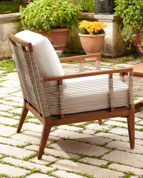 Palecek Amalfi Outdoor Lounge Chair with Cushions