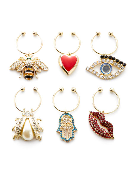 Assorted Evil Eye Wine Charms