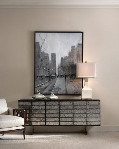 Mystique Antiqued Mirrored 9-Drawer Dresser