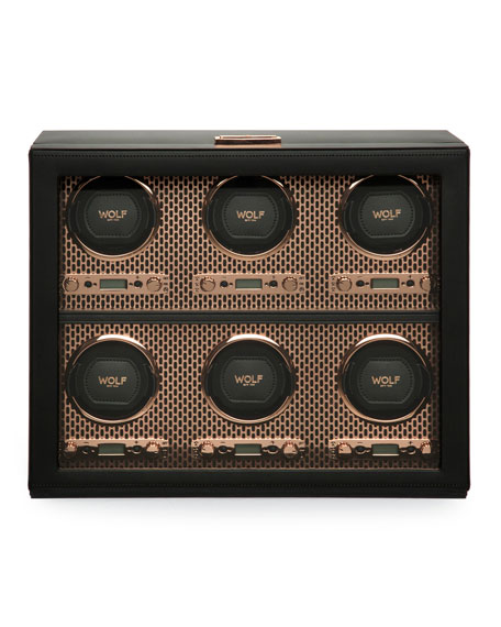 wolf designs axis 6 piece watch winder