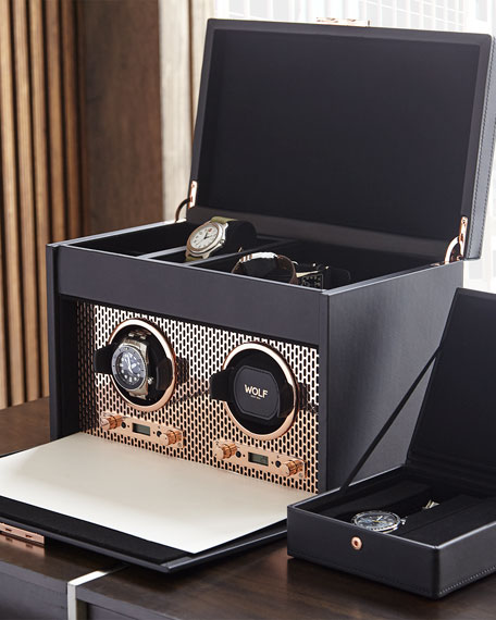 Axis Double Watch Winder with Storage