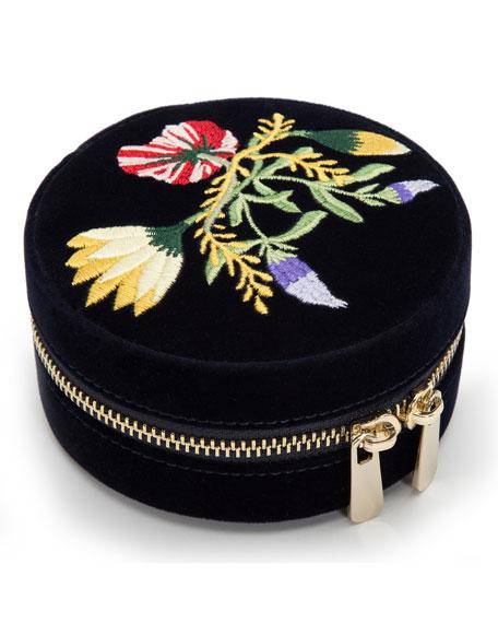 Zoe Round Travel Jewelry Case