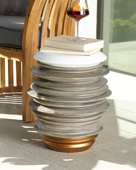 Stacked Garden Stool