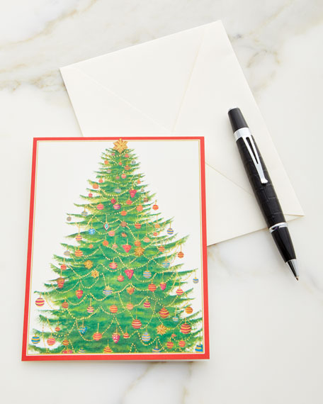 Glittering Trees Printed Holiday Cards