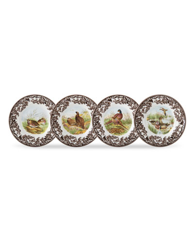 Woodland Birds Canape Plates  Set of 4