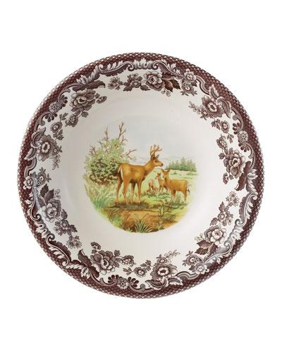 Woodland American Wildlife Mule Deer Ascot Cereal Bowl