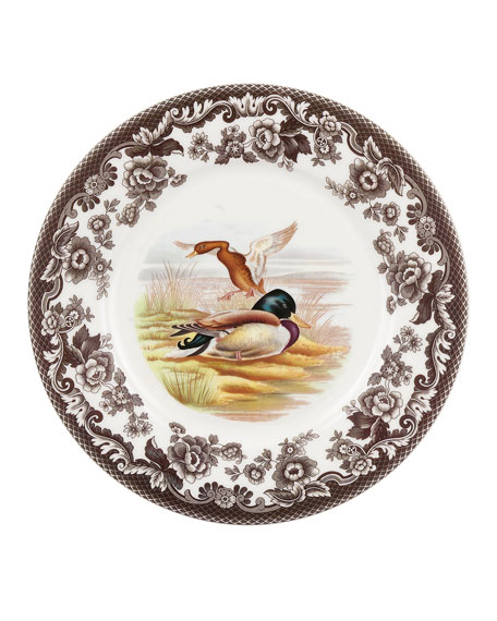 Woodland Mallard Luncheon Plate