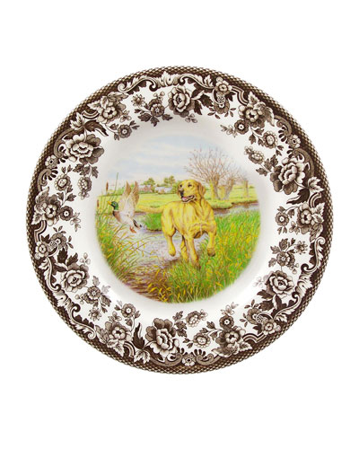 Woodland Hunting Dogs Yellow Lab Salad Plate