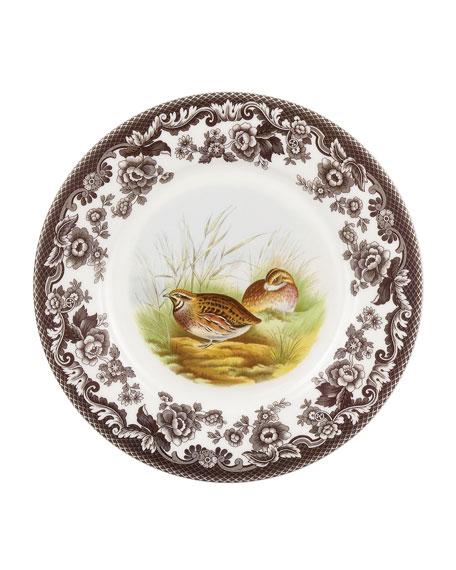 Woodland Quail Luncheon Plate