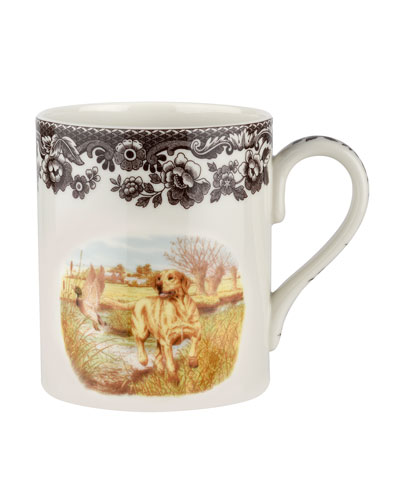 Woodland Hunting Dogs Yellow Lab Mug