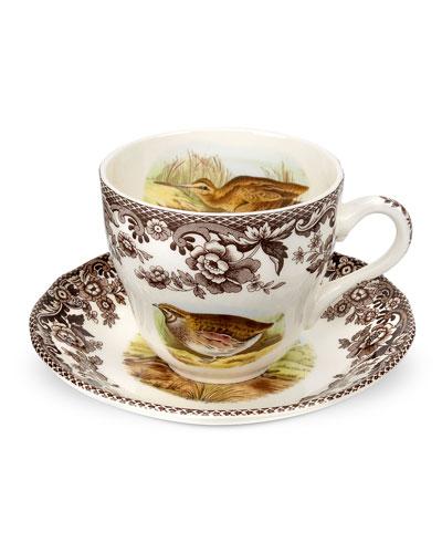 Woodland Quail Teacup & Saucer