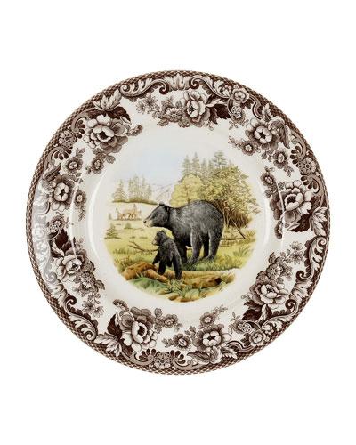 Woodland American Wildlife Black Bear Dinner Plate