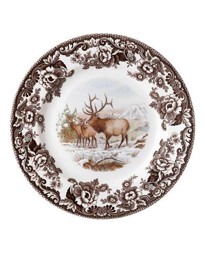 Woodland American Wildlife Elk Salad Plate