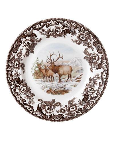 Woodland American Wildlife Elk Dinner Plate