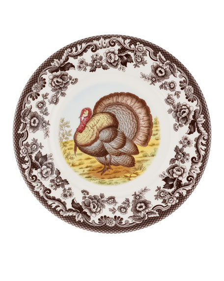 Woodland Turkey Luncheon Plate