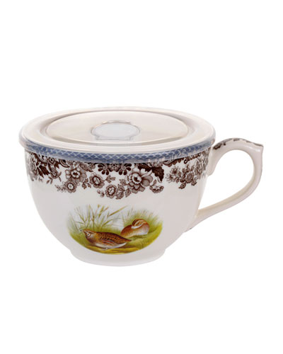 Woodland Wild Quail Jumbo Cup with Lid