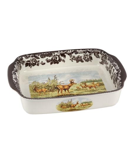Woodland American Wildlife Rectangular Handled Baking Dish