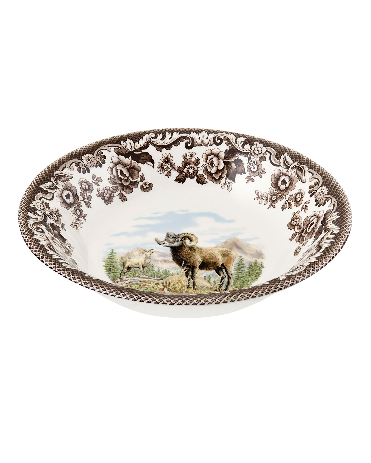 Spodewoodland Bighorn Sheep Ascot Cereal Bowl