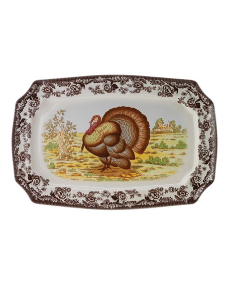 Woodland Turkey Rectangular  Platter