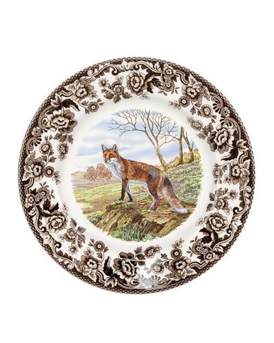 Woodland Red Fox Salad Plate