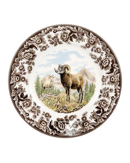 Woodland Bighorn Sheep Salad Plate