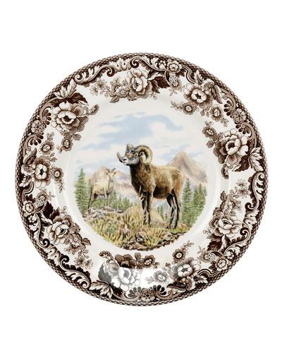 Woodland Bighorn Sheep Dinner Plate