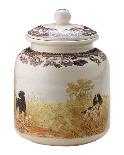 Woodland Hunting Dogs Dog Treat Canister