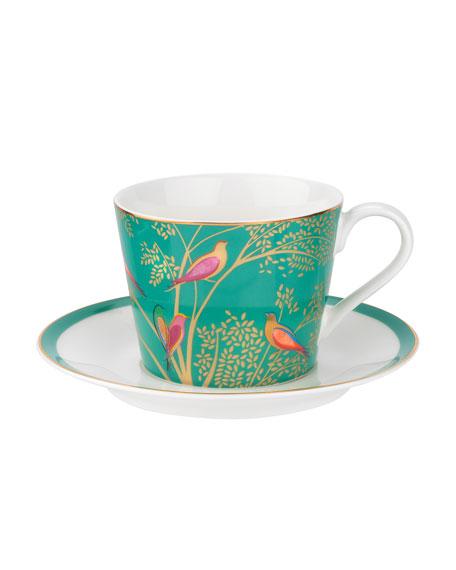 Portmeirion Sara Miller Teacup & Saucer, Green
