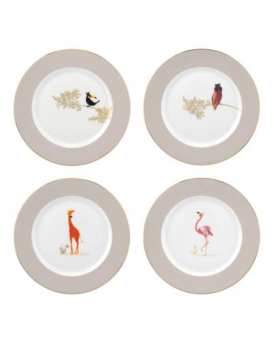 Sara Miller Assorted Dessert Plates, Set of 4