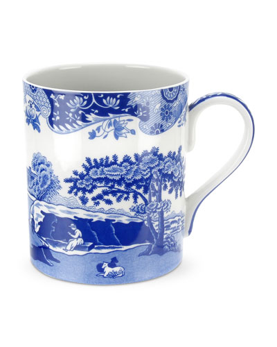 Blue Italian Mugs  Set of 4