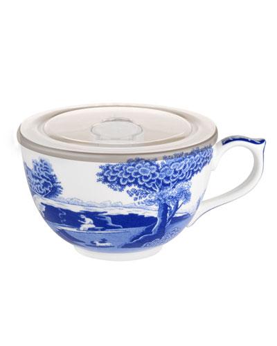 Blue Italian Jumbo Cup with Lid