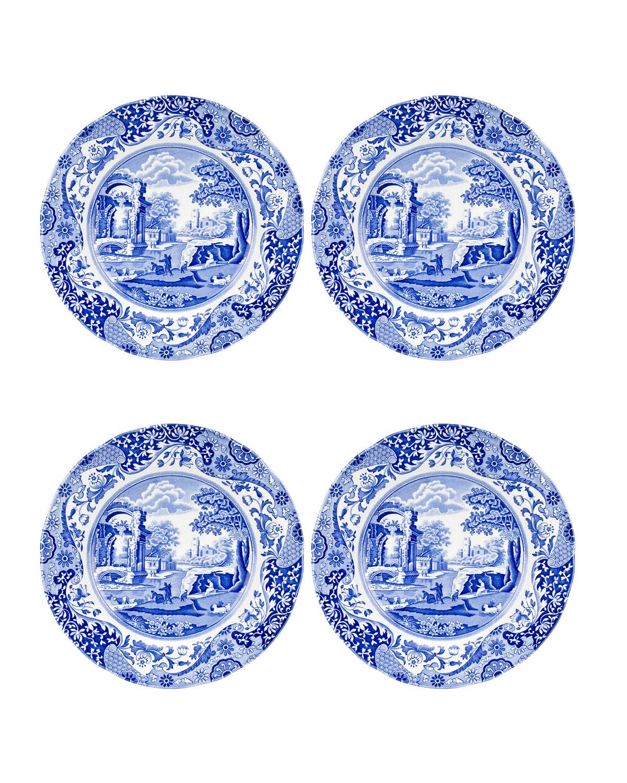 Spodeblue Italian Dinner Plates Set Of 4