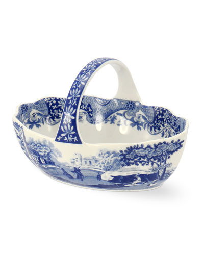 Blue Italian Handled Basket