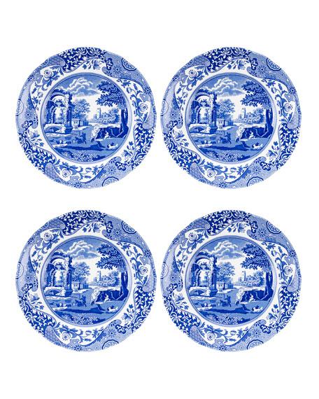 Blue Italian Salad Plates, Set of 4