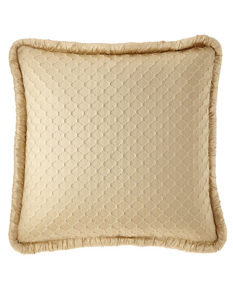 Mayorka Geo European Sham with Silk Piping
