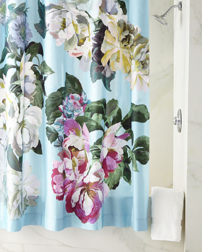 Delft Flower Sky Shower Curtain
