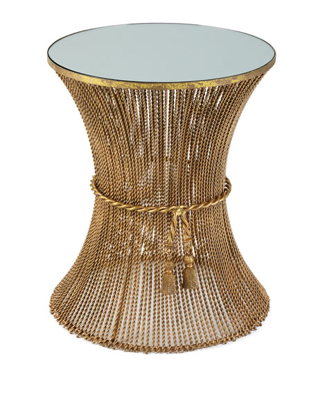 Antonio Gold Twisted Side Table