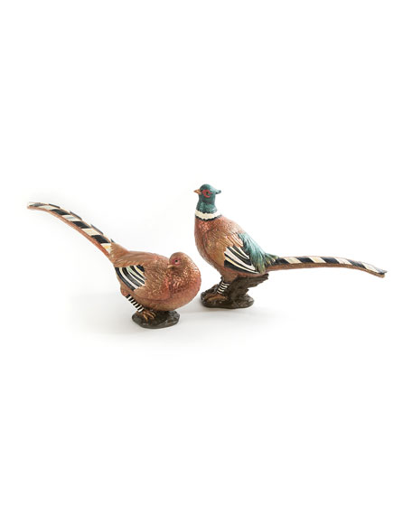 MacKenzie-Childs Autumn Pheasants, Set of 2
