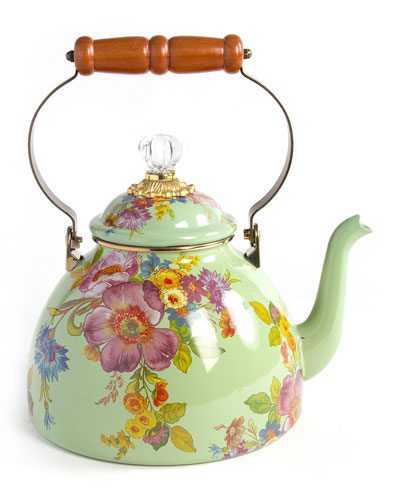 Flower Market 3-Qt. Tea Kettle - Green