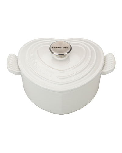 Heart Cocotte with Stainless Steel Knob