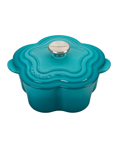 Flower Cocotte with Stainless Steel Knob