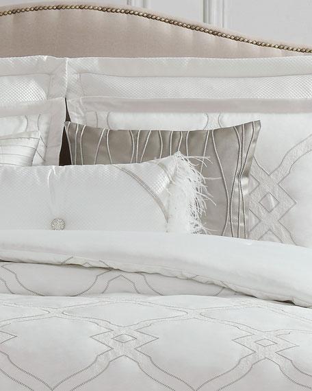 Dianti Square Faux-Leather Decorative Pillow