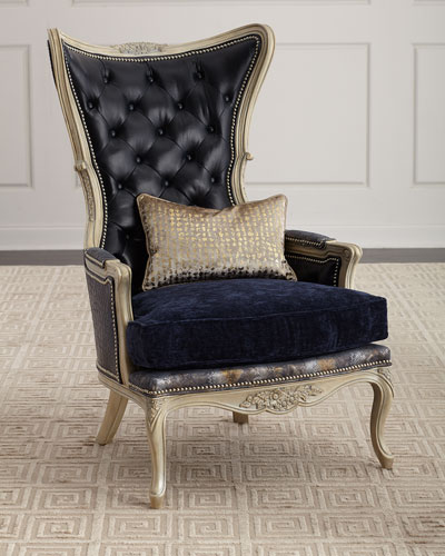 Celeste Leather Wing Chair
