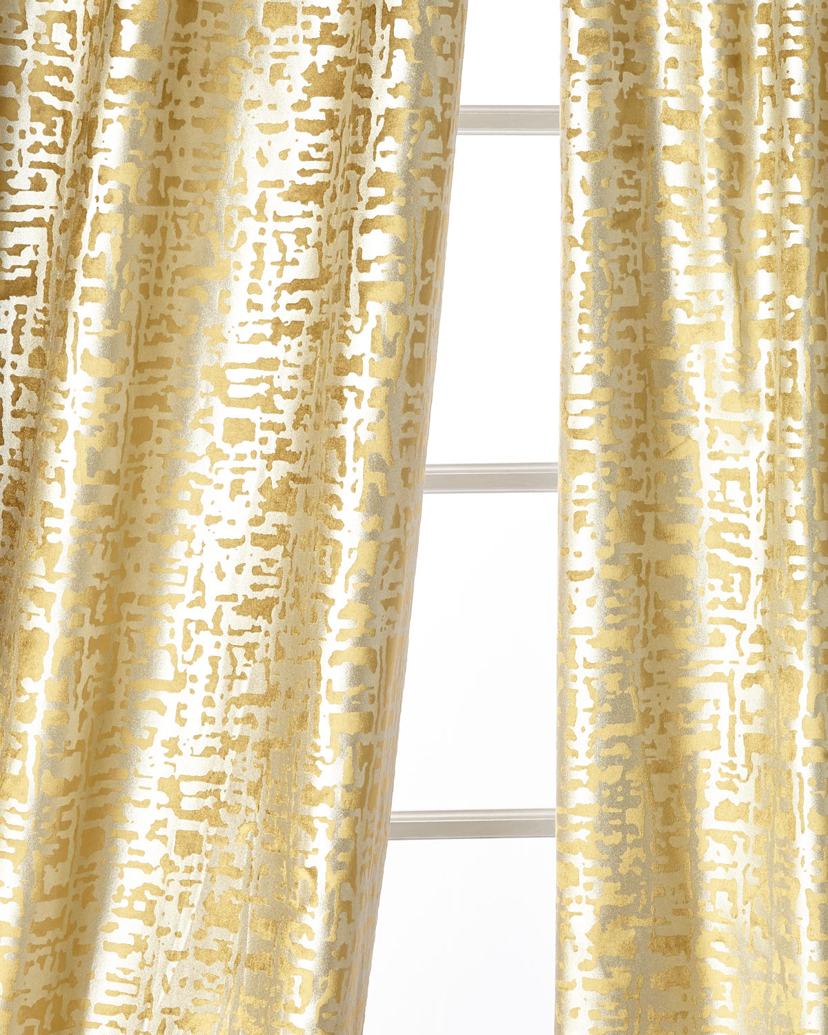 Lili Alessandra Yovanna Gold Shimmer Curtain Panels Set Of Two