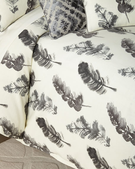 Jane Wilner Designs Plumes King Duvet