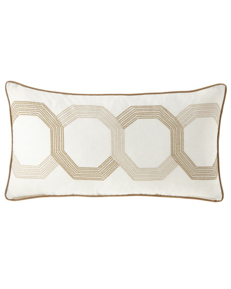 Jane Wilner Designs Lulu Embroidered Rectangular Pillow