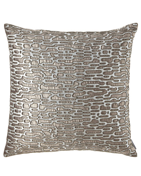 Lili Alessandra Christian Square Platinum Pillow
