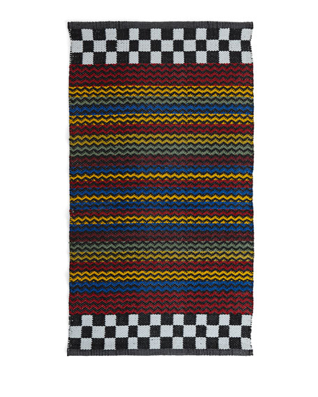 MacKenzie-Childs Kasbah Stripe Indoor/Outdoor Rug/Mat, 2' x 3'4
